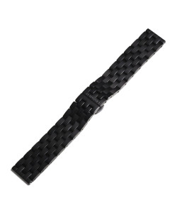 Stainless steel bracelet black DLC for Nav B 44 Chrono Black DLC