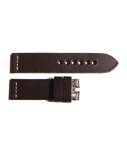 Leather strap dark brown size M