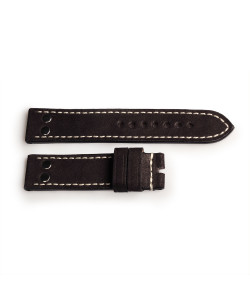 Strap black with rivets, size L