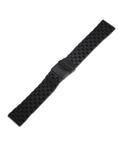 Stainless steel bracelet black DLC for Aviation