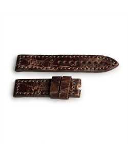 Leather strap bronze brown Vintage size M