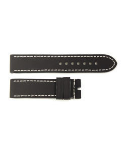 Rubber strap black for Ocean 2, size M, white stitching
