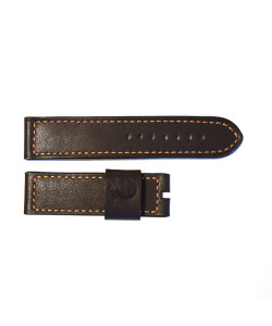 Leather strap brown with orange stiching size M