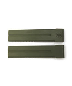 Rubber strap 24 mm green without clasp
