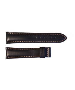 Leather strap black for  Racetimer size M
