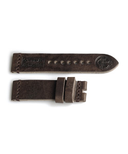 Leather strap Military vintage brown size S