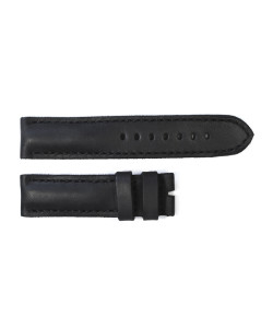 Leather strap black tone in tone size S