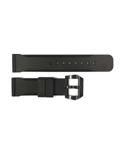 Rubber strap 24 mm black with black Pre-V buckle