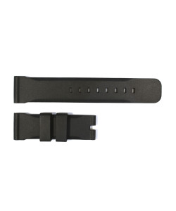 Rubber strap 24 mm black without pinbuckle