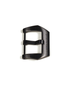 Pre V buckle 24 mm Black PVD with logo