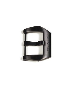 PRE-V buckle 22 mm black DLC mat with logo