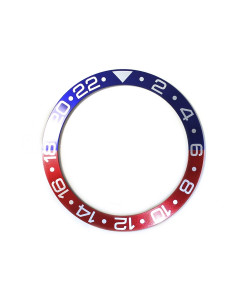 Aluminium inlay for Ocean 44 GMT Blue/Red