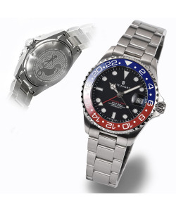 Ocean 39 GMT BLUE-RED Ceramic