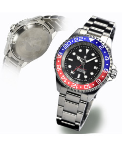 OCEAN Forty Four GMT BLUE-RED