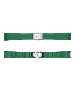 Rubber strap green new 20x18 mm for Ocean 39 with clasp steel