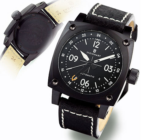 Aviation GMT automatic black DLC