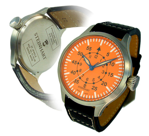 Nav B-Uhr automatik orange