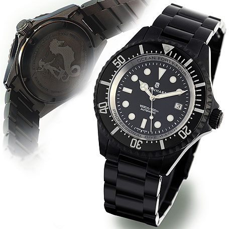 OCEAN Forty-Four automatic black DLC
